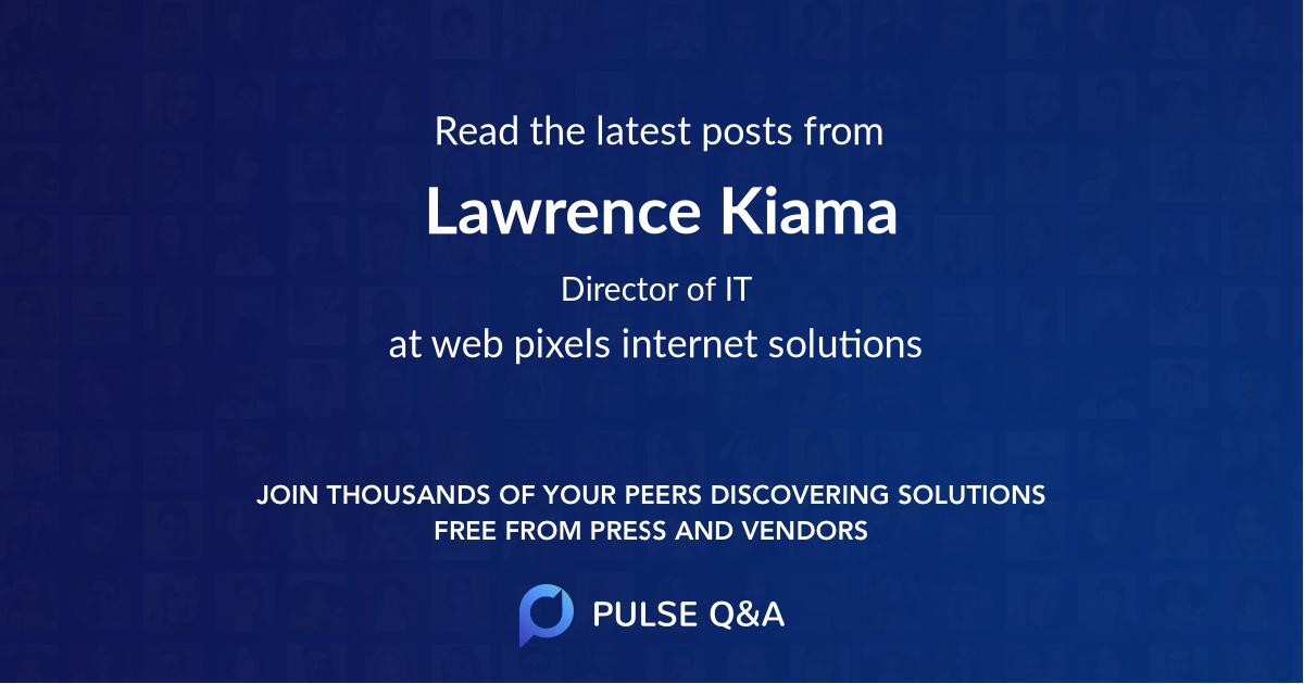 Lawrence Kiama