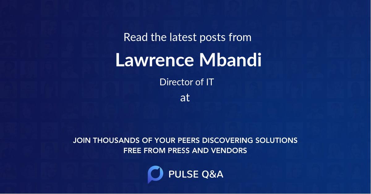 Lawrence Mbandi