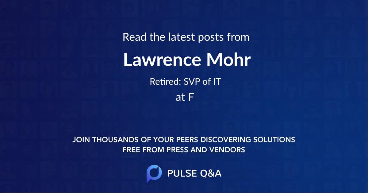 Lawrence Mohr