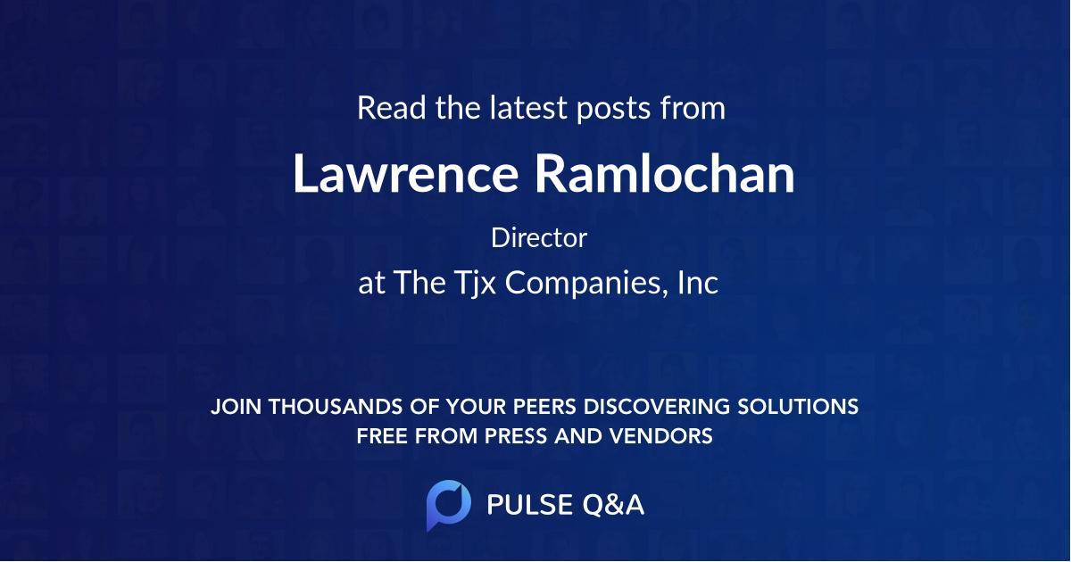 Lawrence Ramlochan
