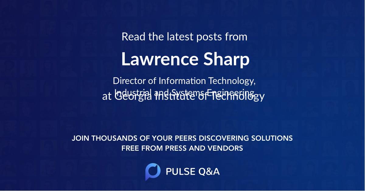 Lawrence Sharp