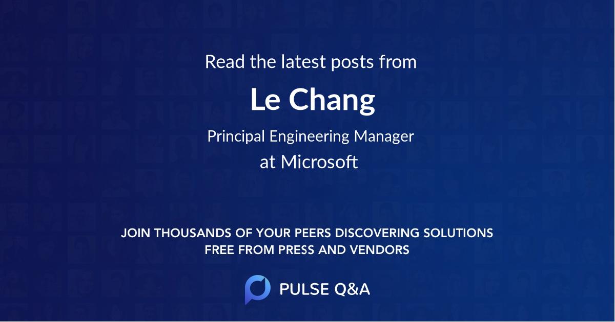 Le Chang