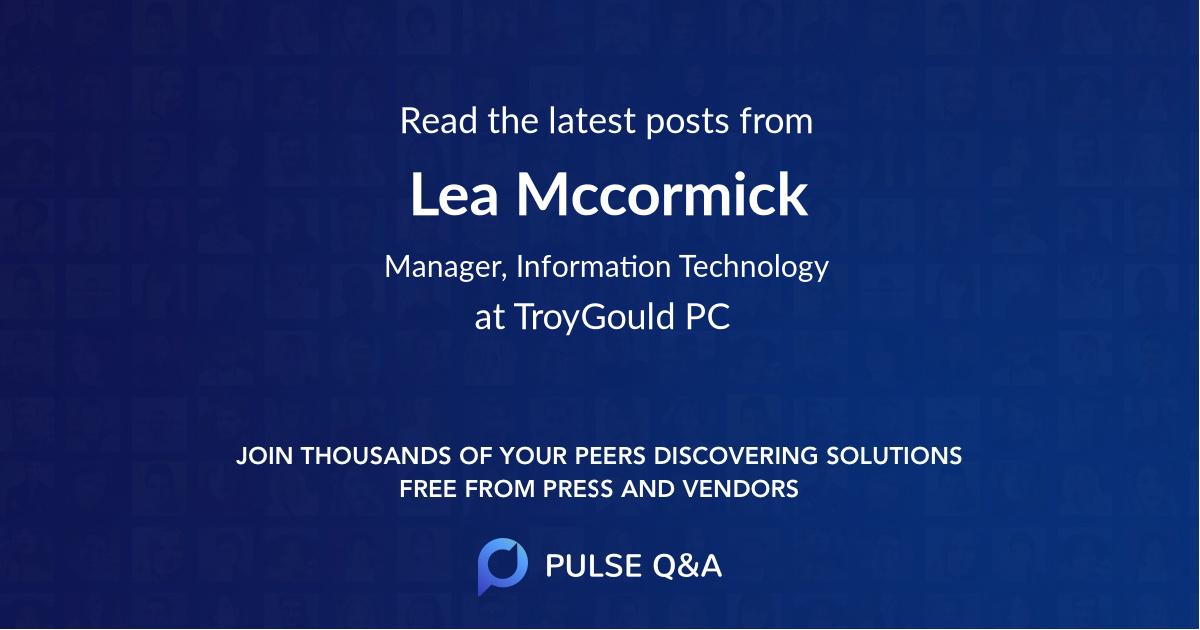 Lea Mccormick