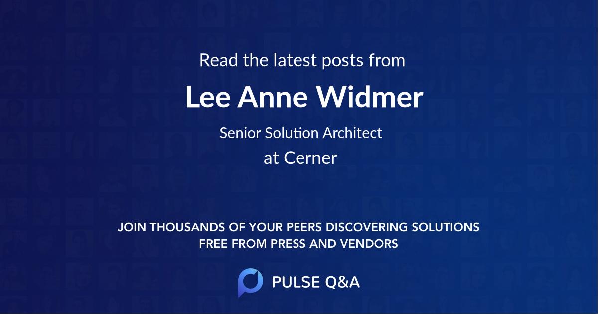 Lee Anne Widmer