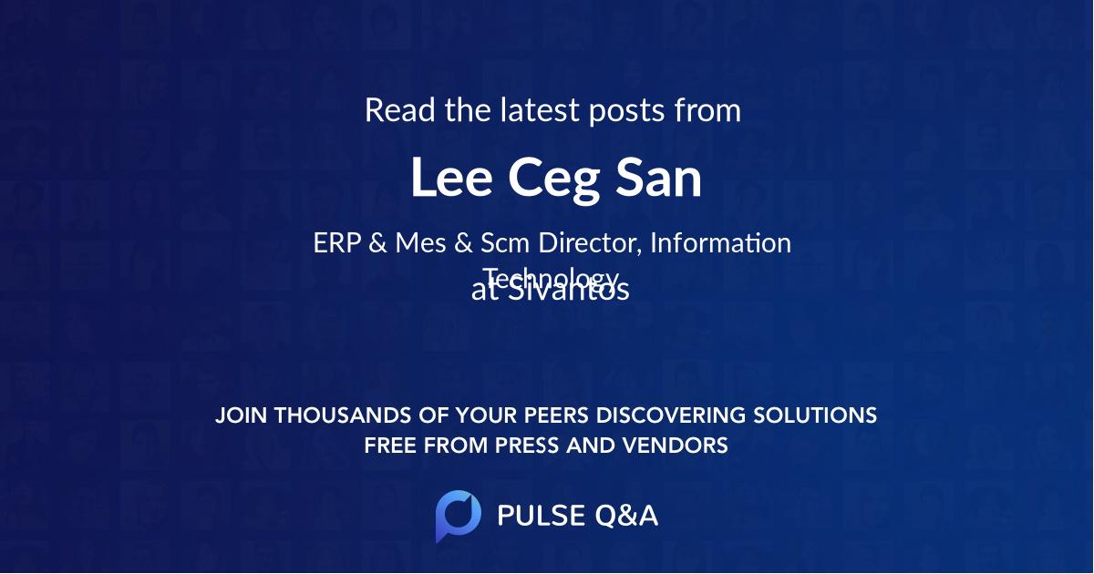 Lee Ceg San