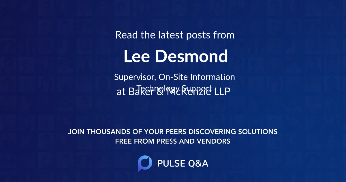 Lee Desmond