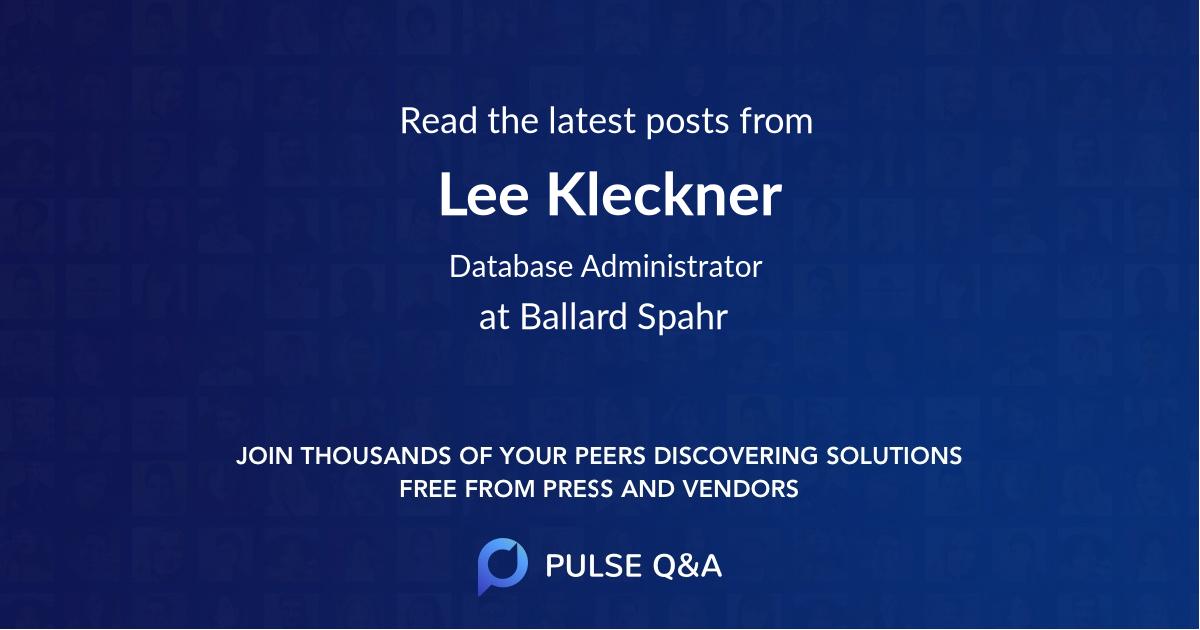 Lee Kleckner