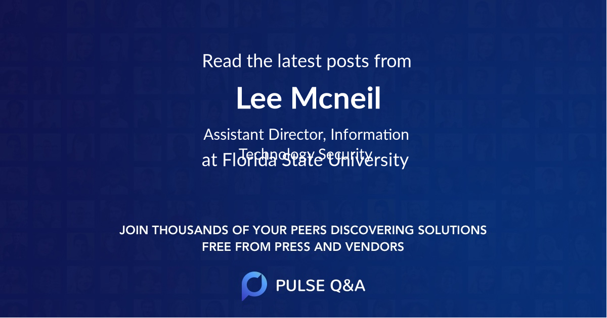 Lee Mcneil