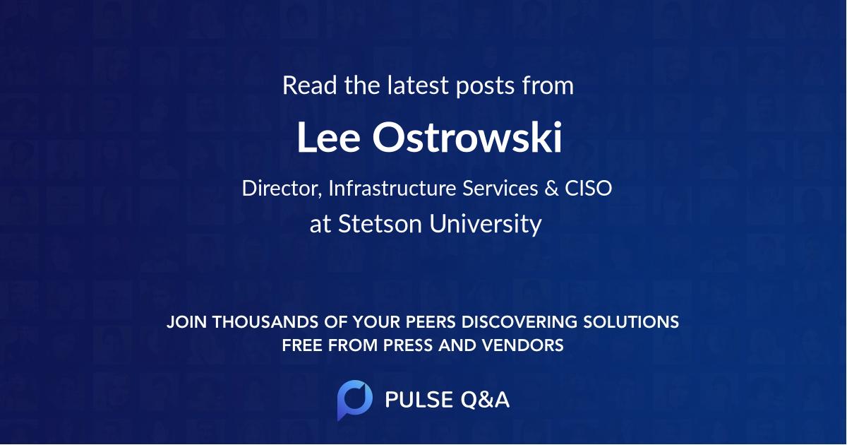 Lee Ostrowski