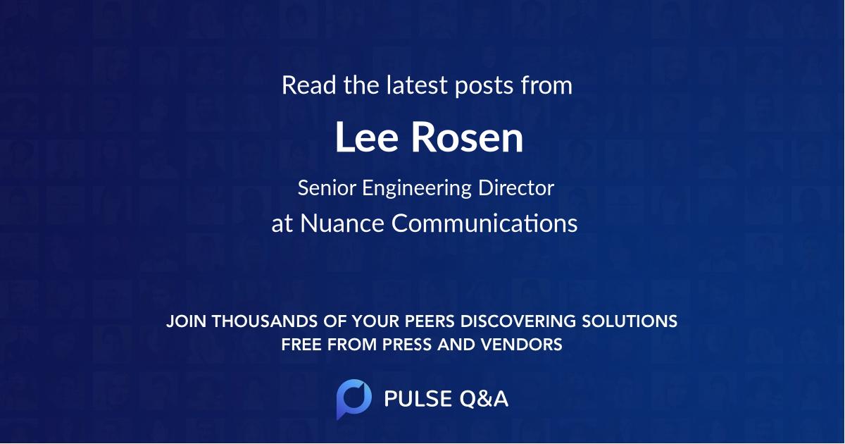 Lee Rosen