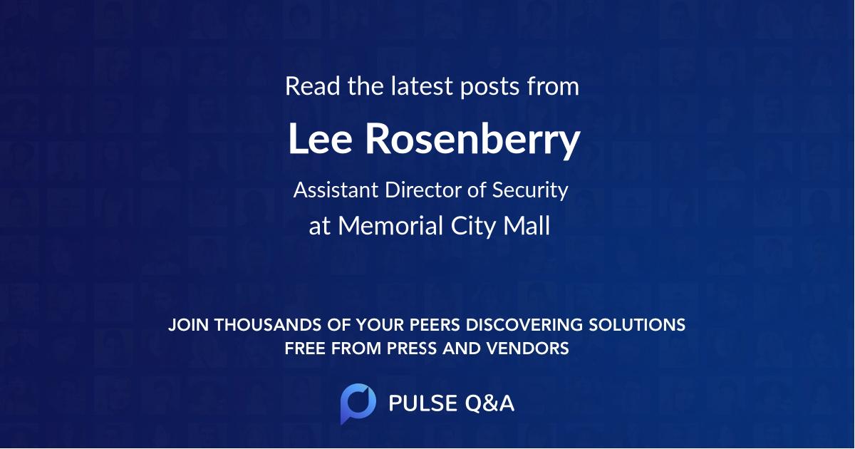Lee Rosenberry