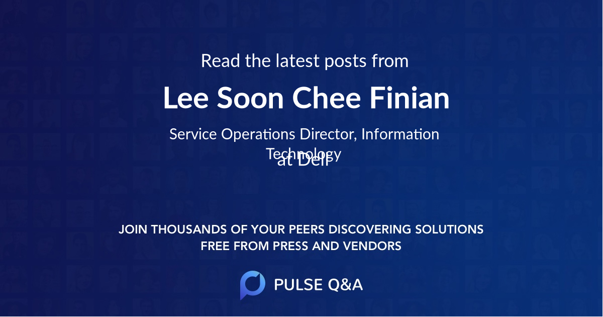 Lee Soon Chee Finian
