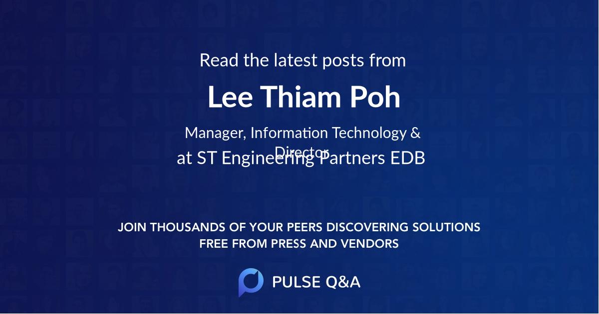 Lee Thiam Poh