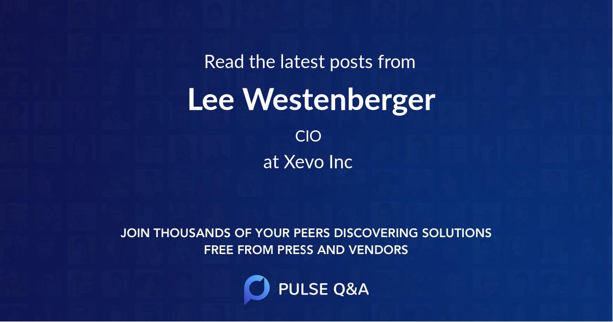 Lee Westenberger