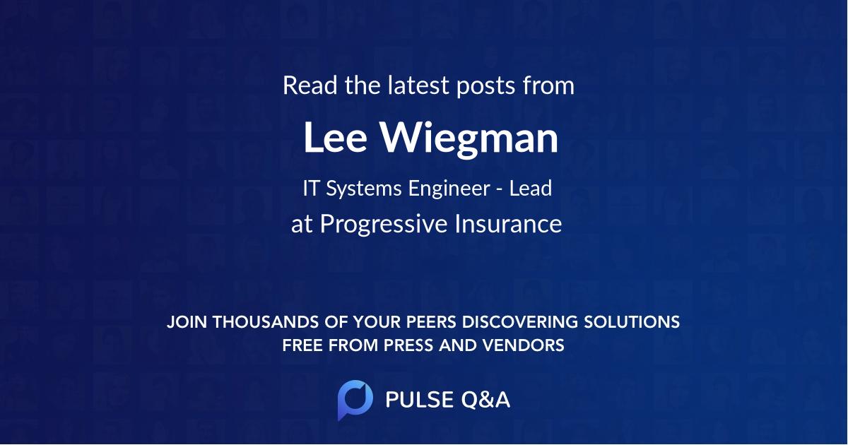 Lee Wiegman