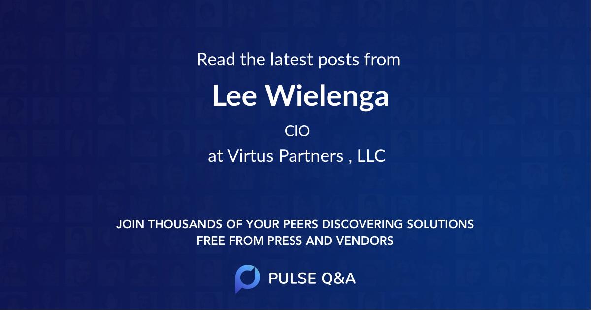 Lee Wielenga