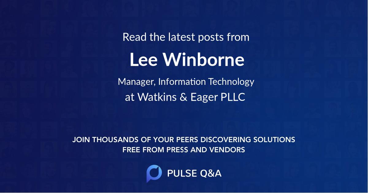 Lee Winborne