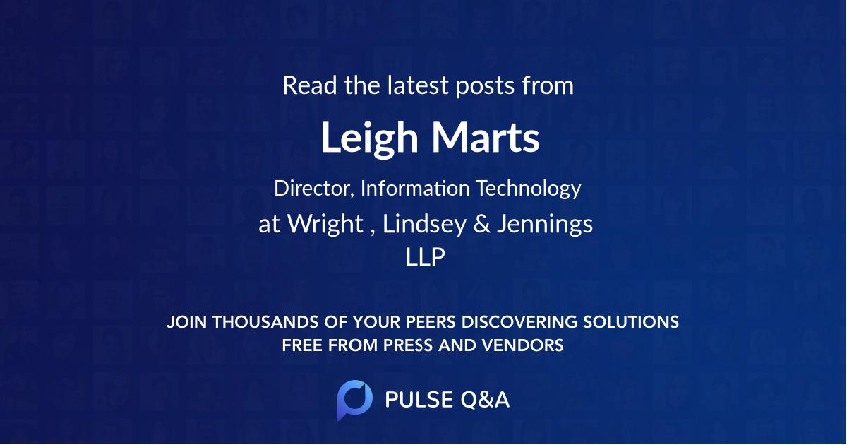 Leigh Marts