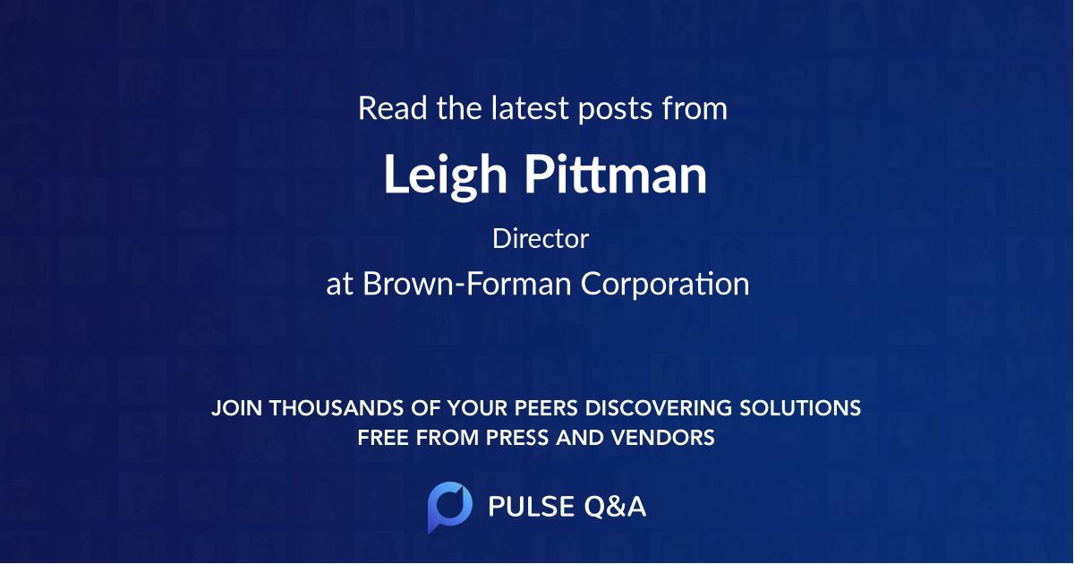 Leigh Pittman