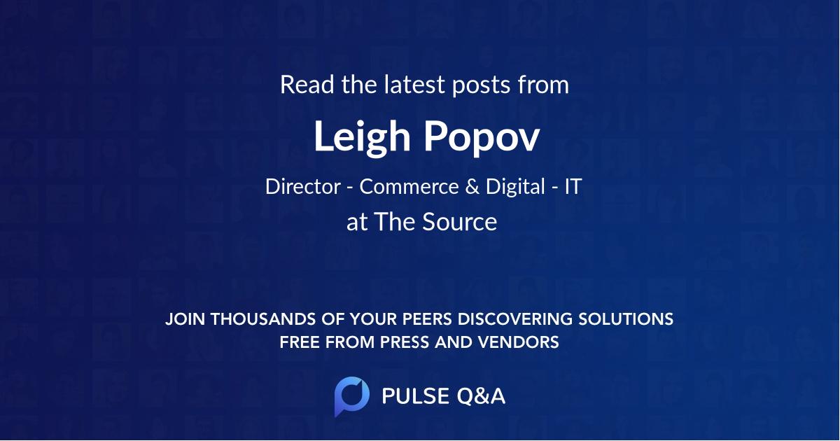 Leigh Popov