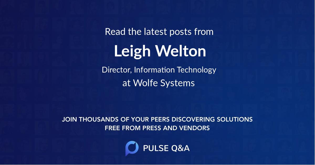 Leigh Welton
