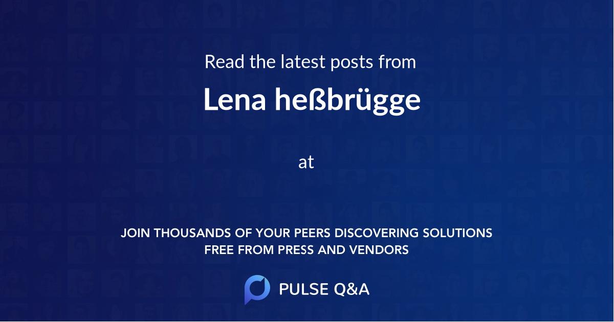 Lena heßbrügge