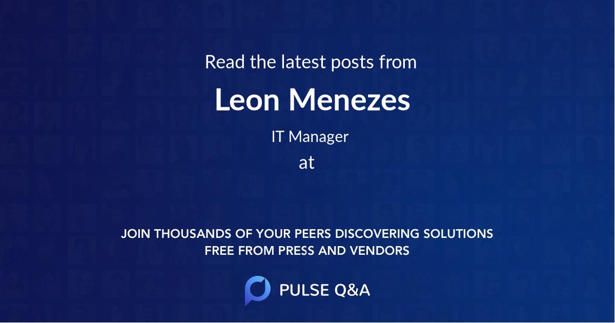 Leon Menezes