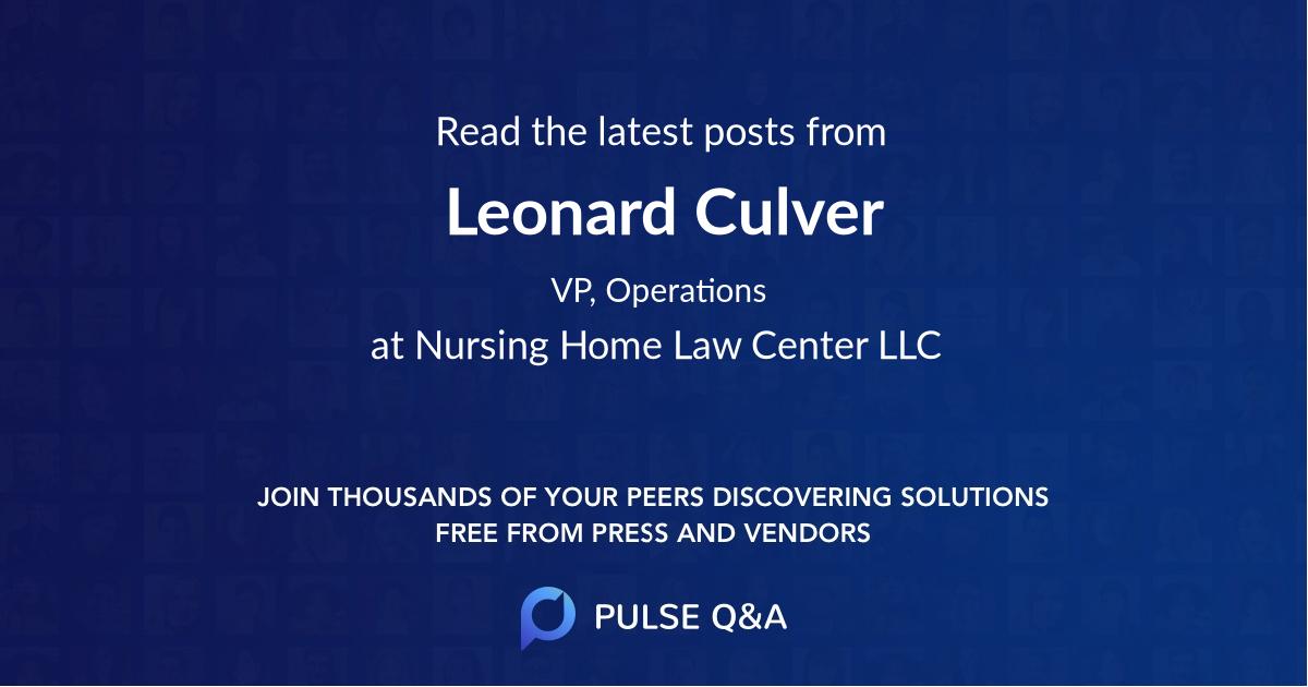 Leonard Culver