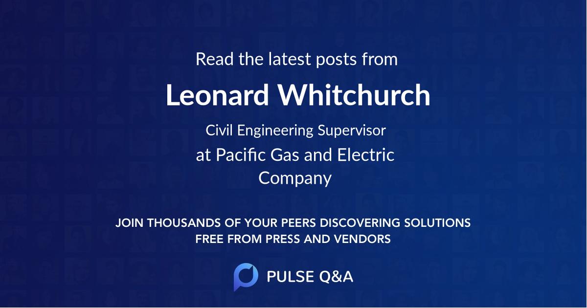 Leonard Whitchurch