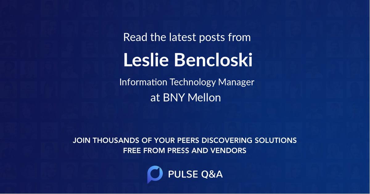 Leslie Bencloski