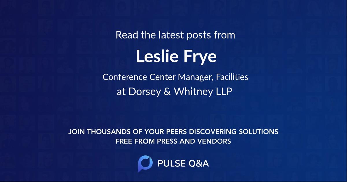 Leslie Frye