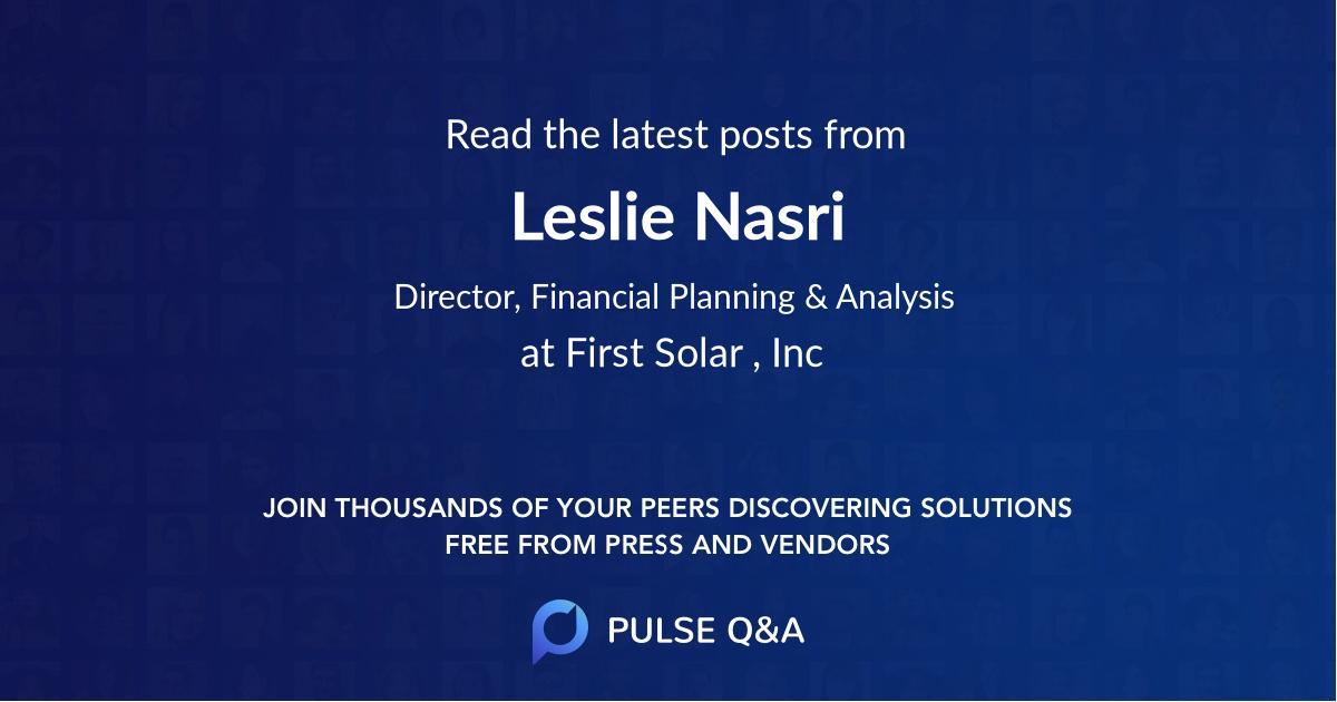 Leslie Nasri