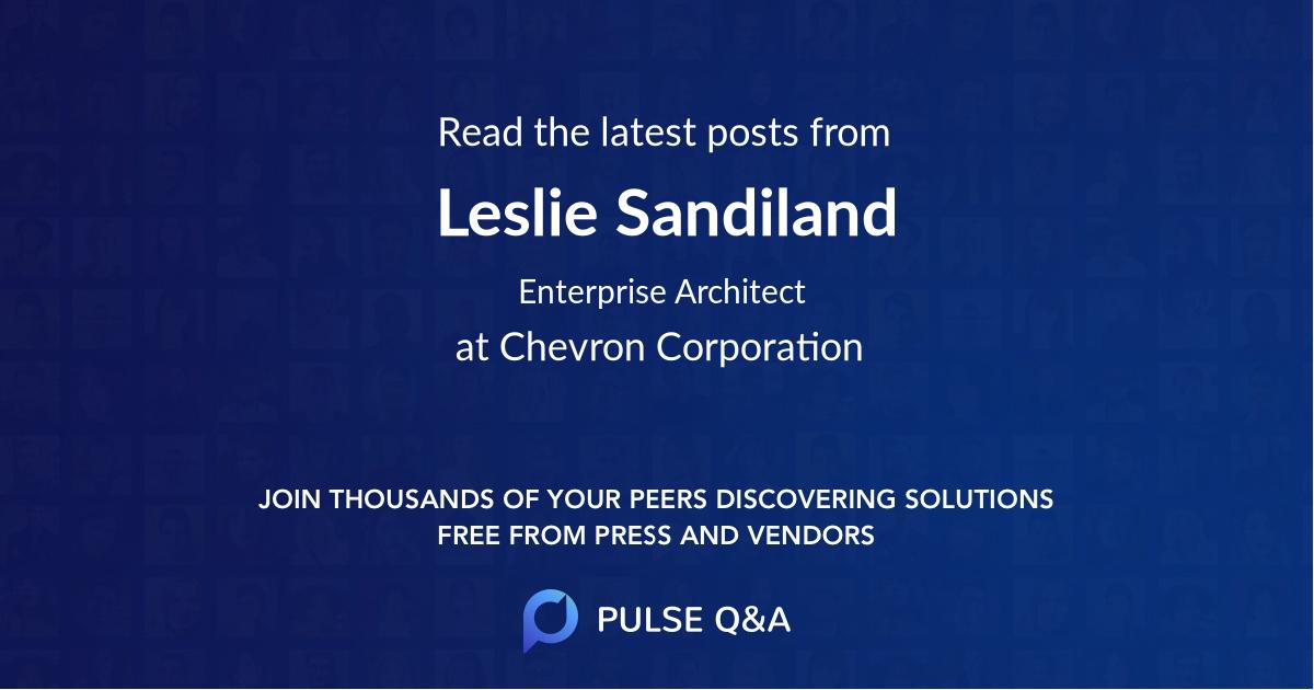 Leslie Sandiland