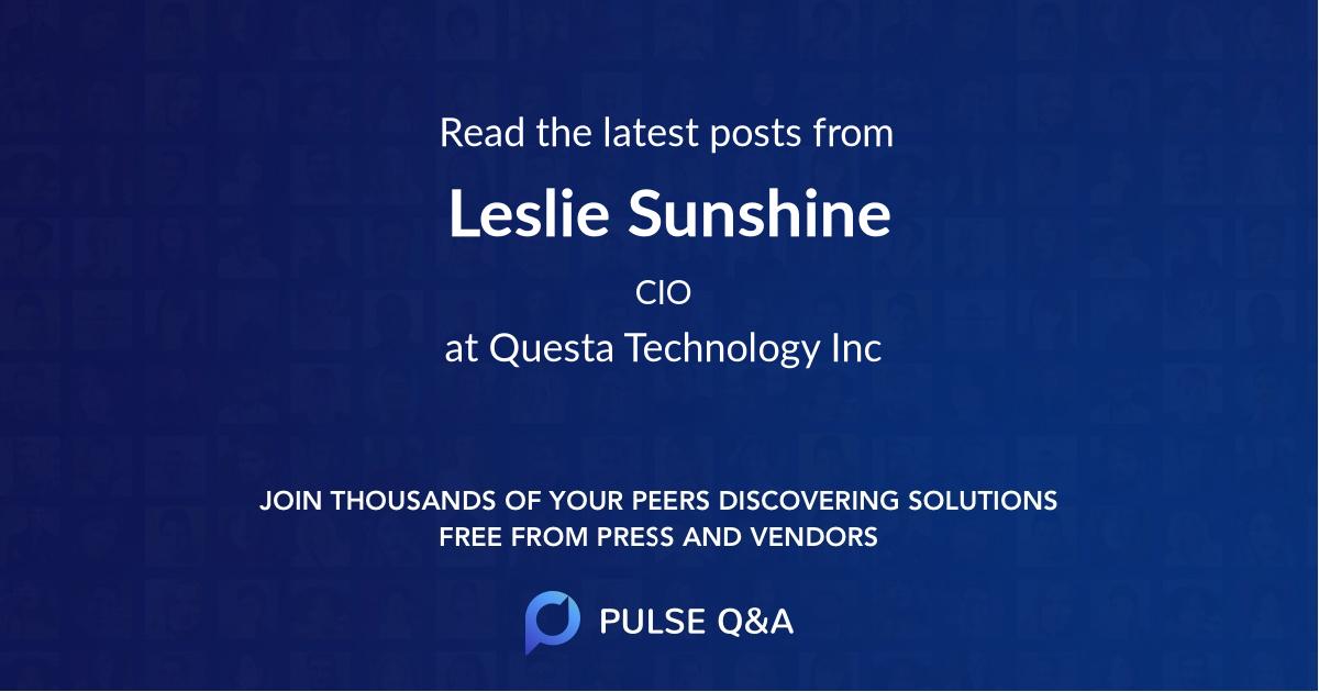 Leslie Sunshine