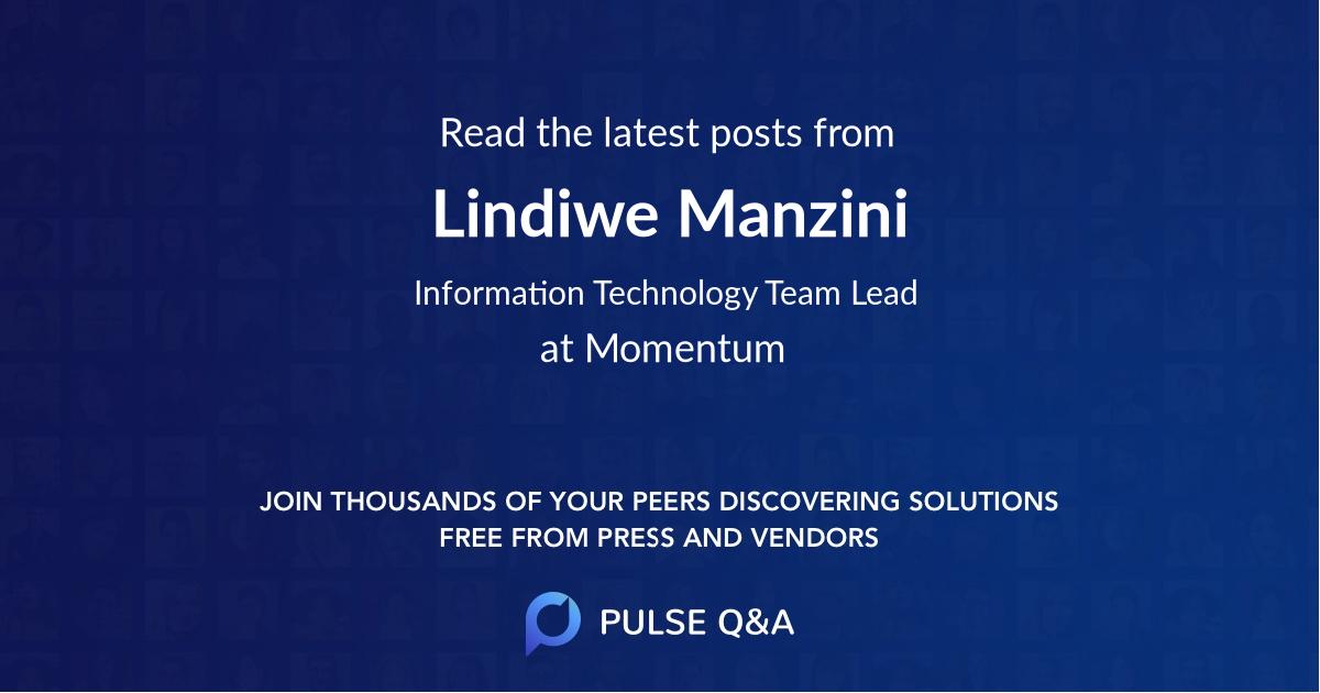 Lindiwe Manzini