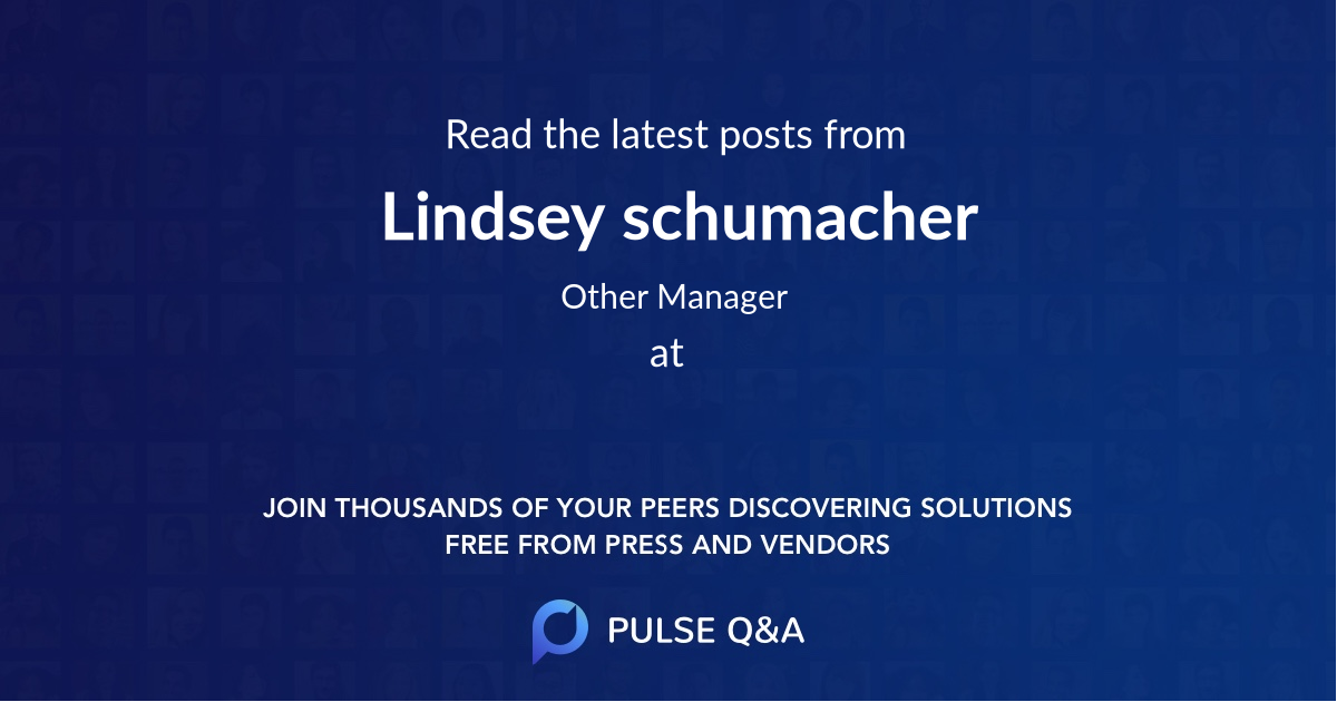 Lindsey schumacher