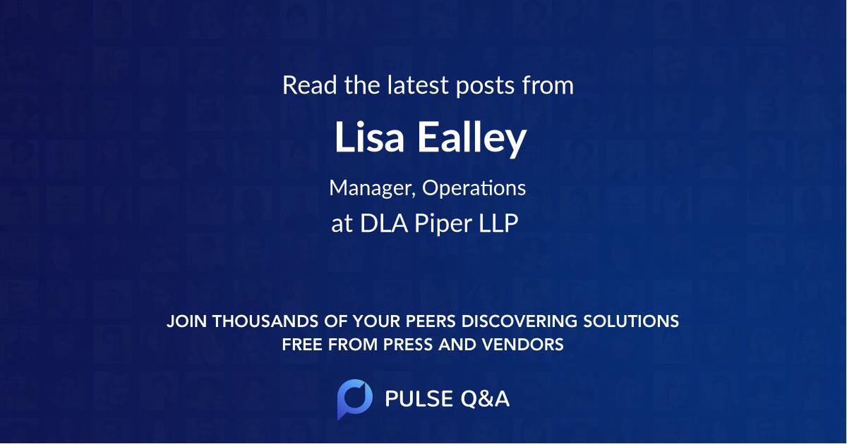 Lisa Ealley