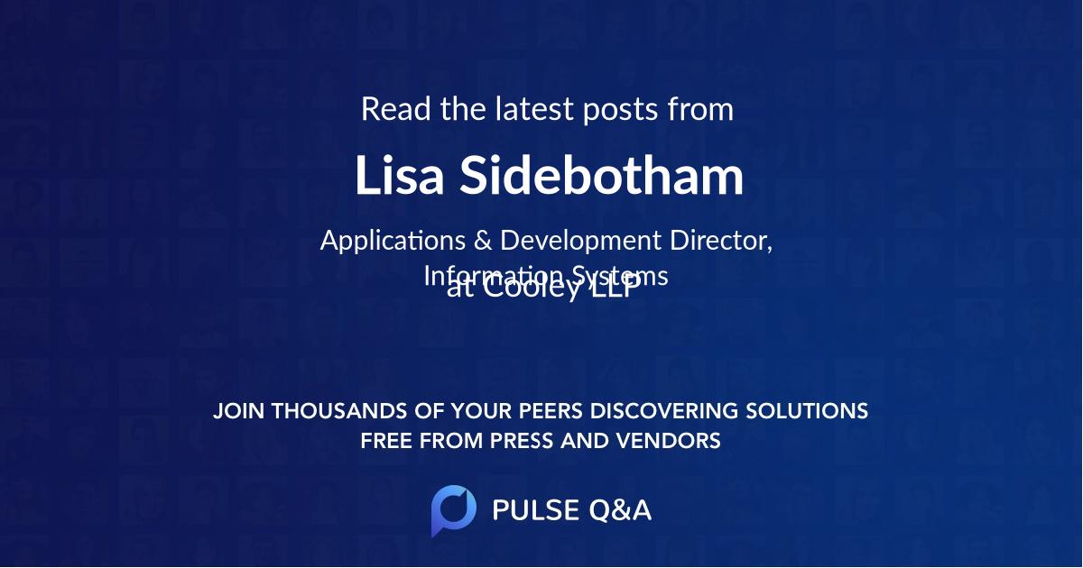 Lisa Sidebotham