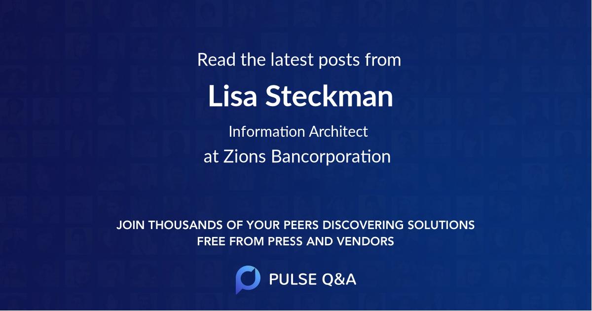 Lisa Steckman
