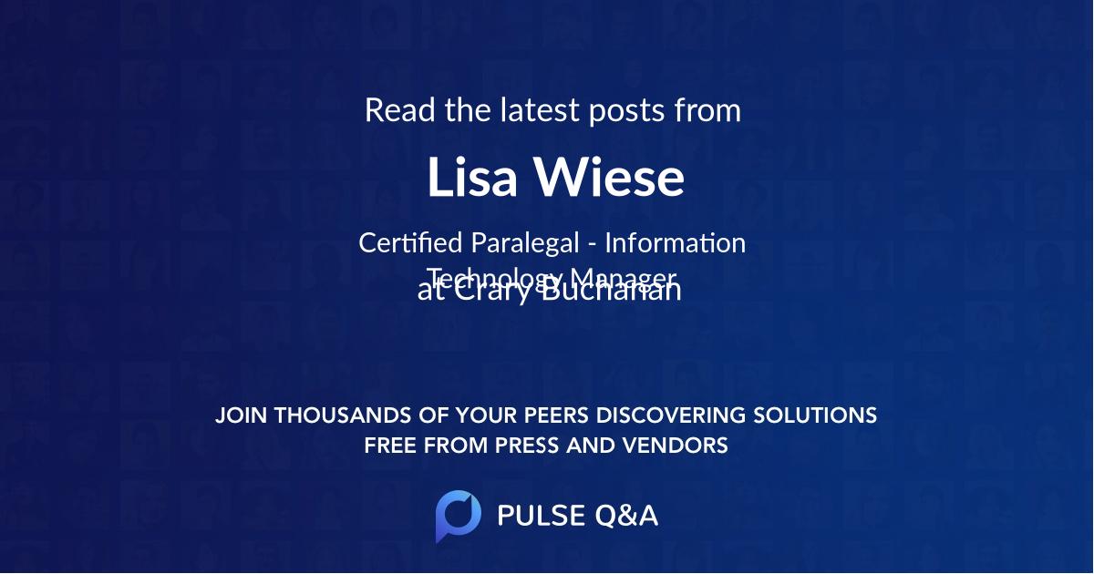 Lisa Wiese