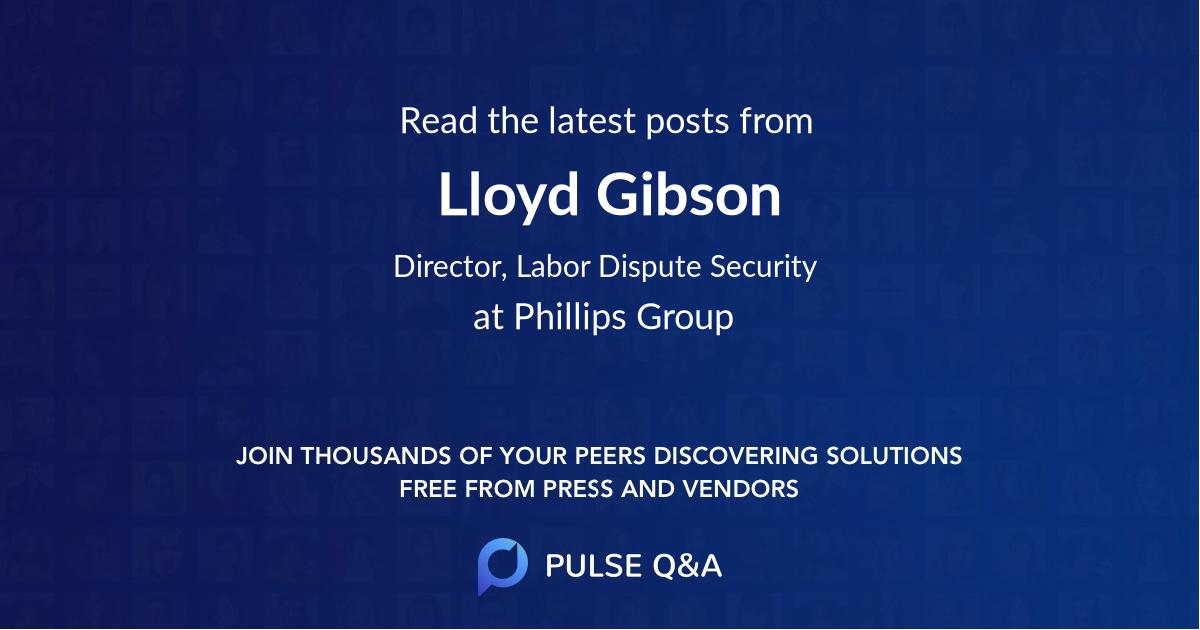 Lloyd Gibson