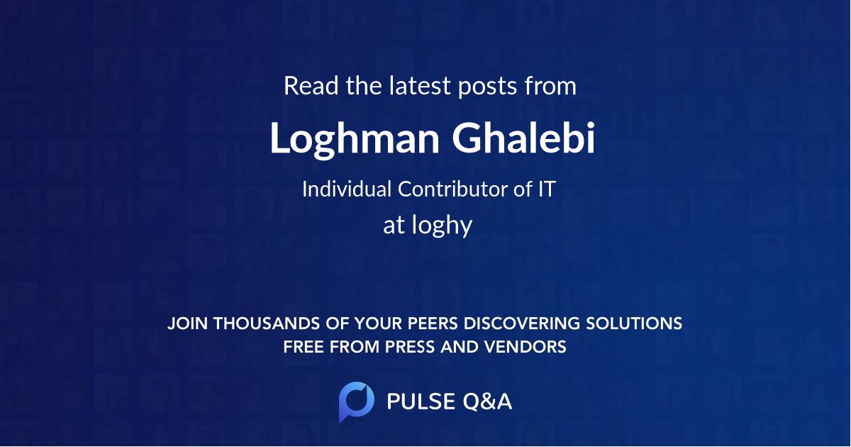 Loghman Ghalebi