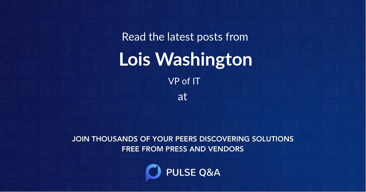 Lois Washington