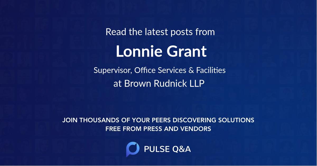Lonnie Grant