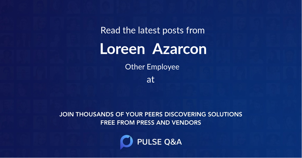 Loreen  Azarcon