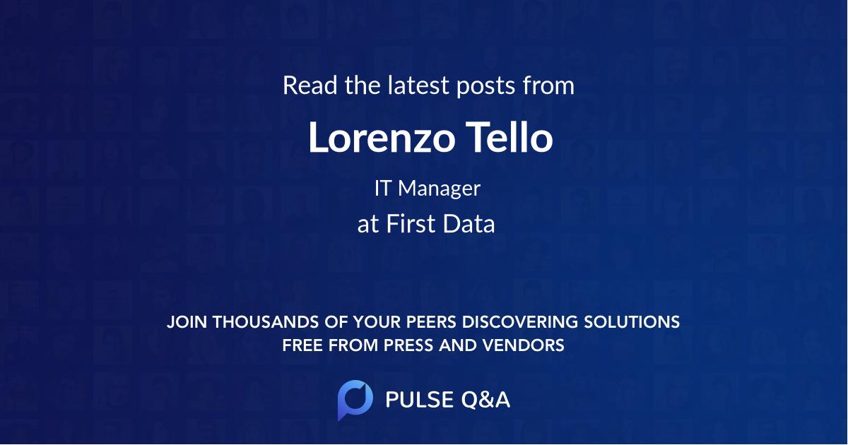 Lorenzo Tello
