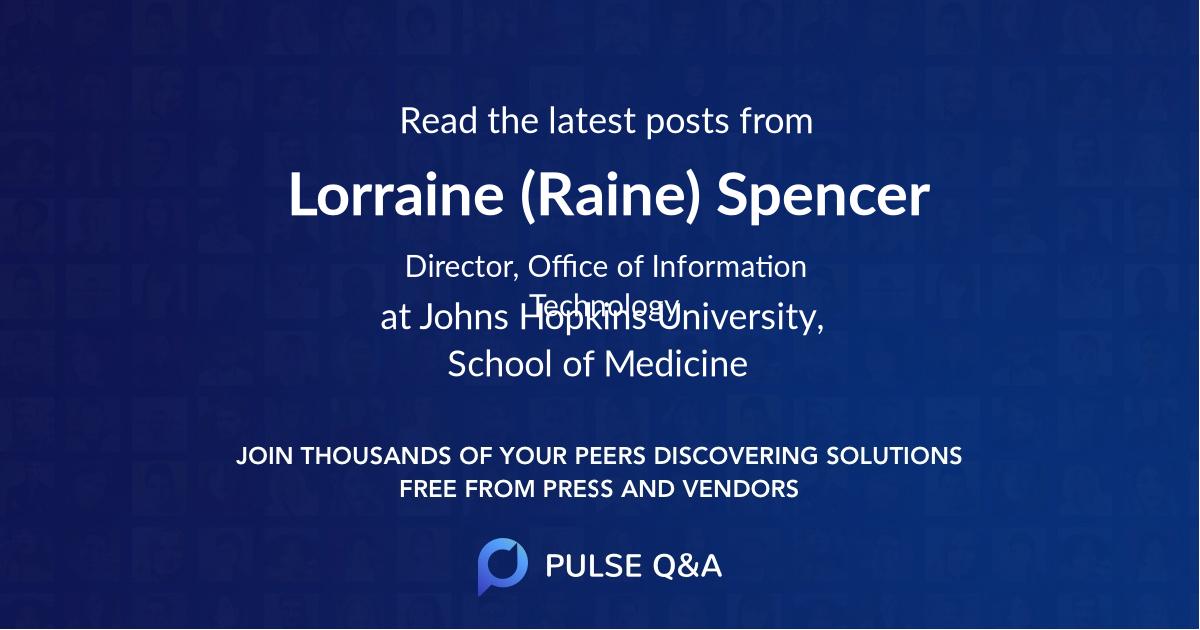 Lorraine (Raine) Spencer