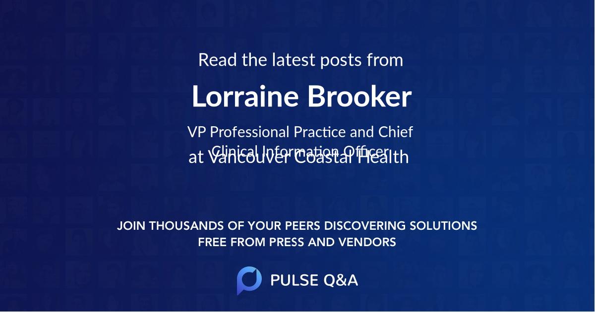 Lorraine Brooker