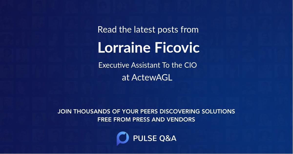 Lorraine Ficovic