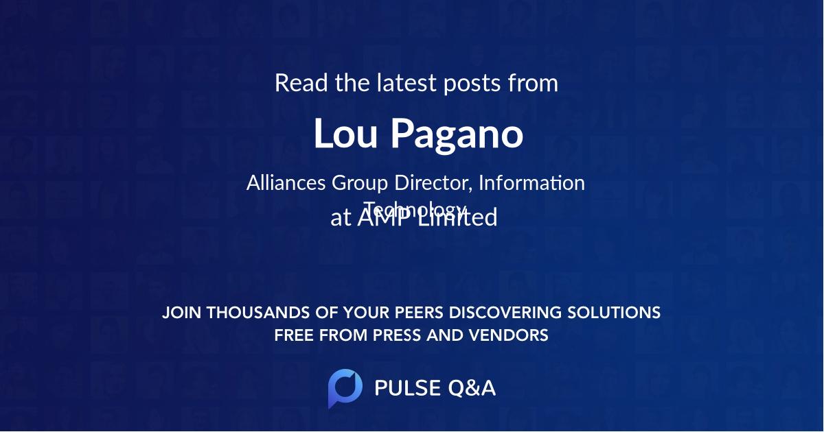 Lou Pagano